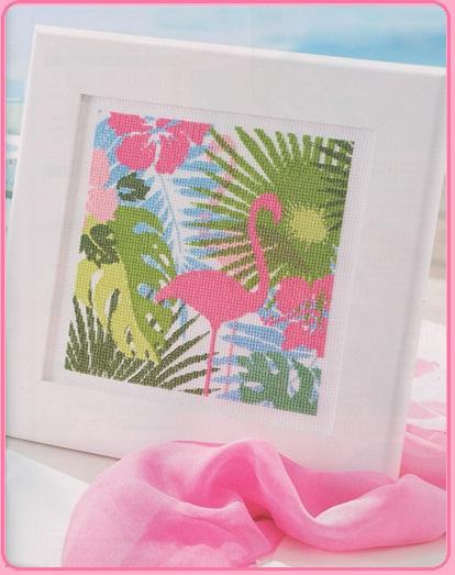 Схемы для вышивки · flamingo