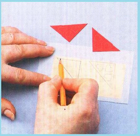Поделки из маленьких треугольников