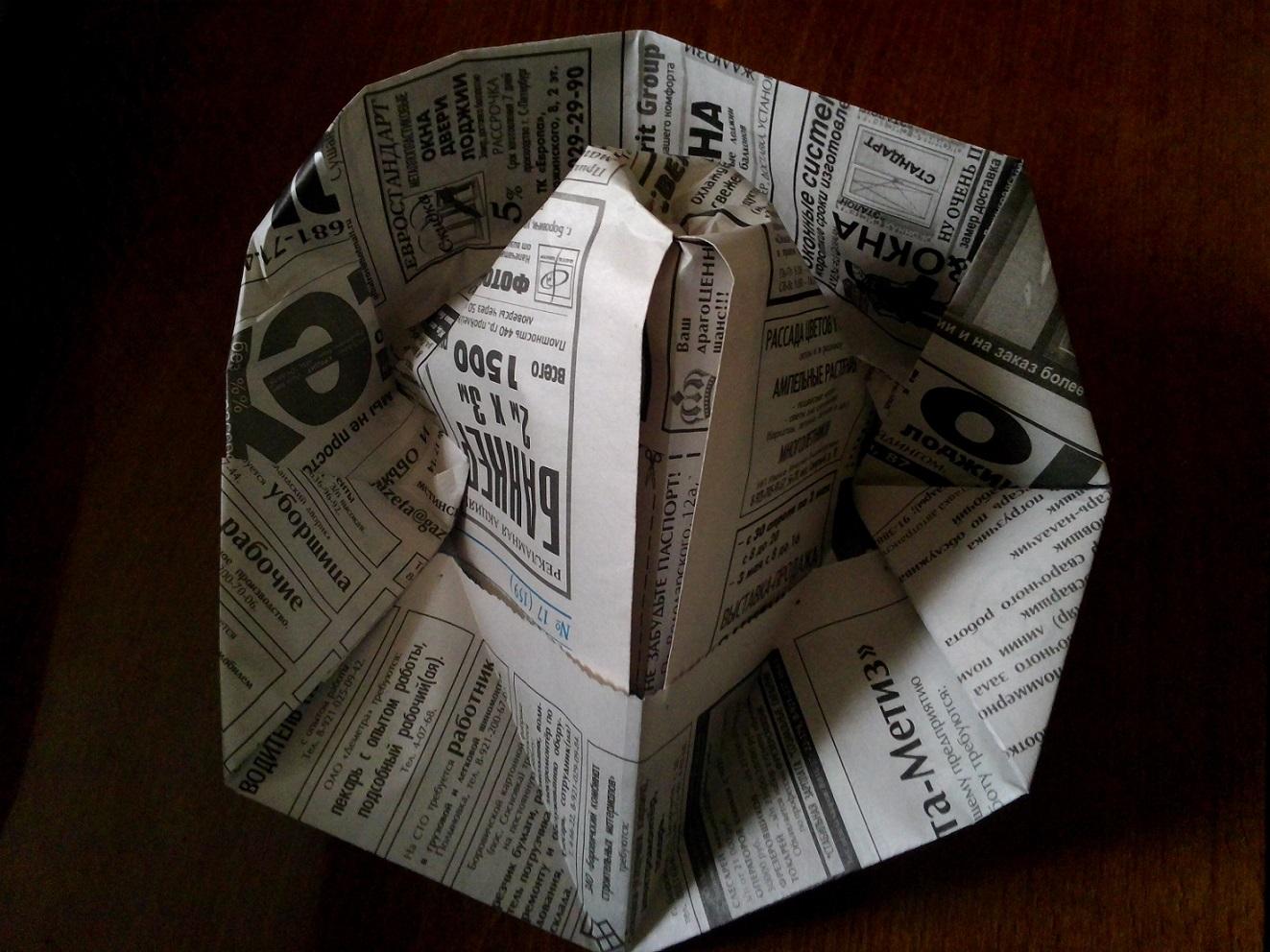 Как сделать шляпу из бумаги из газеты