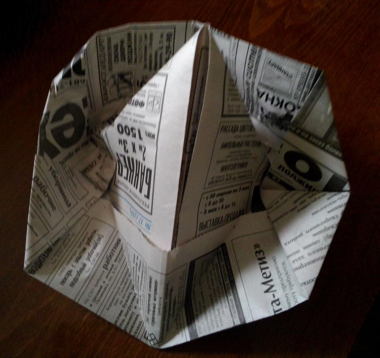 Треуголка из газеты своими руками 30