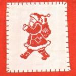 Вышиваем крестиком: дед Мороз