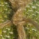 Одинарный плоский узел и витой шнур