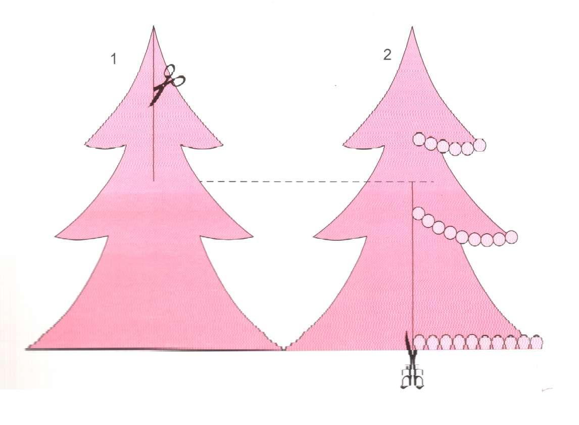 аппликация елки из цветной бумаги шаблоны нашли спутниковой