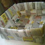 Корзинки из газет