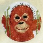Схема вышивки обезьянки
