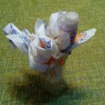 Оригами цветы из салфеток