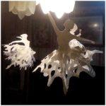 Легкие и воздушные балерины из бумаги снежинки