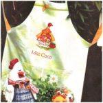 Новогодняя вышивка крестом курочки мадам Коко