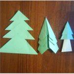 Складываем простые оригами елочка вместе с детьми