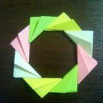Складываем оригами Японский венок