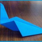 Простые оригами Синяя птица