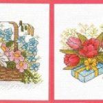 Вышитые открытки вышиваем весну